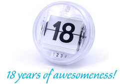 18years of awesomeness!